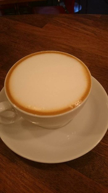 traditional cappuccino with goodly amount of foam
