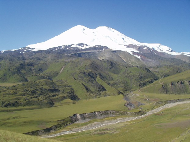northern slopes of Mount Elbrus, August 2004