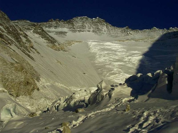 Western Cwm with Lhotse Face in background: border of Tibet and Nepal's Khumbu region