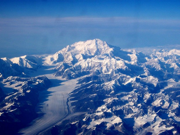 view at 27,000 feet (8,230 meters) from Alaska Airlines flight between Red Dog Mine and Anchorage, Alaska, September 10, 2003