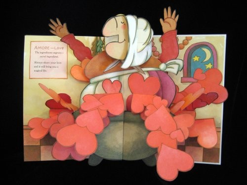 pop-up of Strega Nona as epitome of love