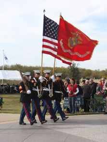Honor Guard at Dallas-Fort Worth National Cemetery on Veterans Day