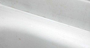 Re-caulked bathtub