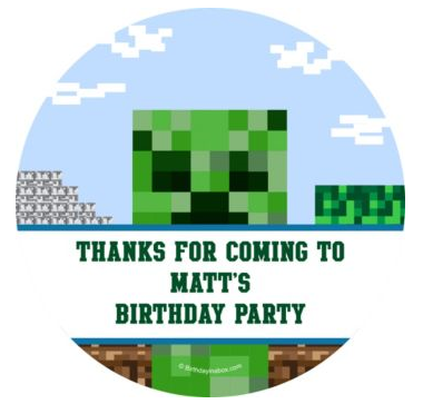 Fun Creeper Party Favor Sticker