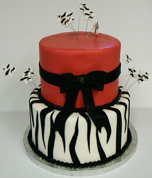 Gorgeous Red Zebra Cake