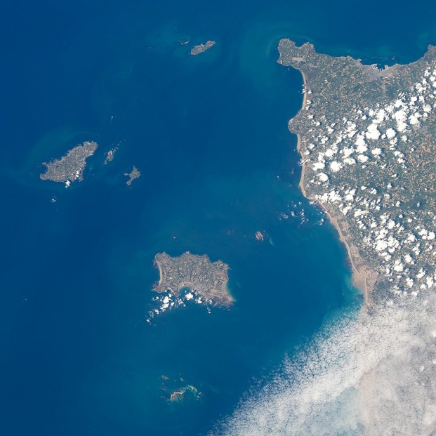 The Channel Islands as seen from International Space Station (ISS) on May 19, 2011.