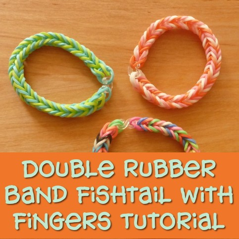 The Double Rubber Band Fishtail with Fingers Step by Step Photo Tutorial