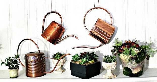 Gardeners often display copper watering cans