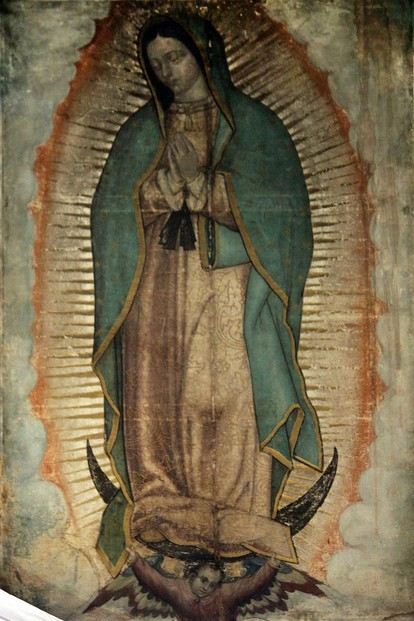 Basilica of Our Lady of Guadalupe, Mexico City, central Mexico: image of Our Lady Mary, Virgin of Guadalupe