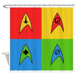 Pop Art Trek Shower Curtain