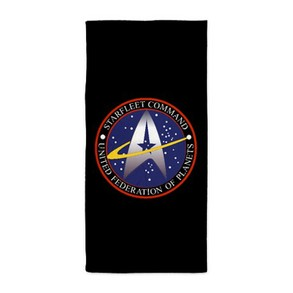 Star Fleet Command Insignia Beach Towel