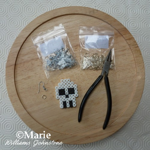 What you need to make earrings from perler bead projects