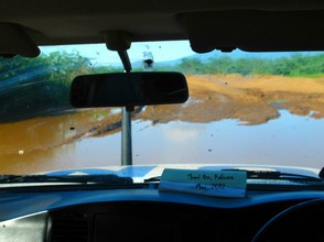 Flooded Road in Kakuma Refugee Camp
