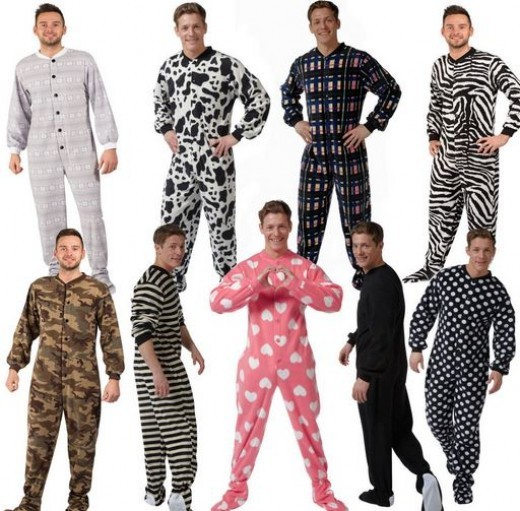 Men in Footed Onesie Pajamas