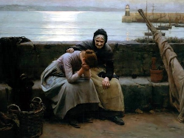 Never Morning Wore To Evening But Some Heart Did Break, 1894, by Walter Langley