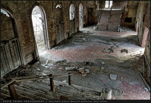School in Shambles - Gary, Indiana