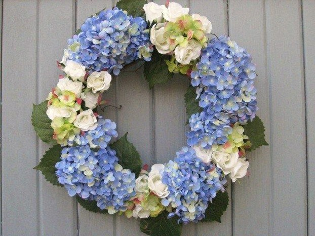 A Beautiful Hydrangea Wreath For Your Front Door