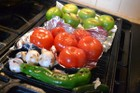 This pan is great for grilling vegetables, for salsas, salads and other uses