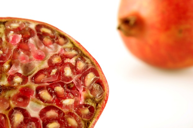 cross-section of a pomegranate fruit