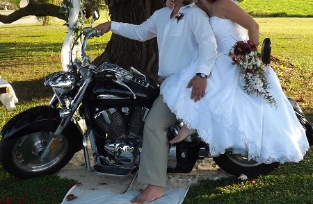 Wedding pictures often include the motorcycle