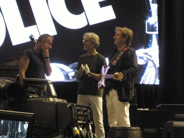 The Police at a soundcheck in Philadelphia, July 29 2008.