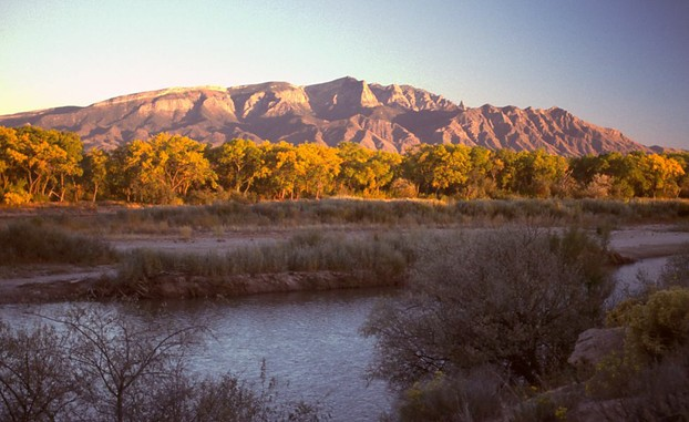 Albuquerque area sunset and natural landscape