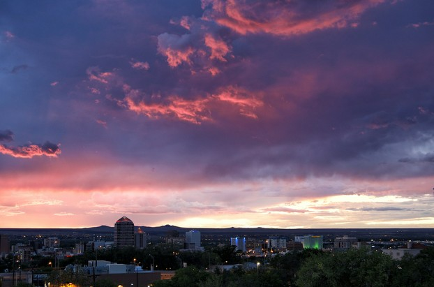 Albuquerque's sunset skyline