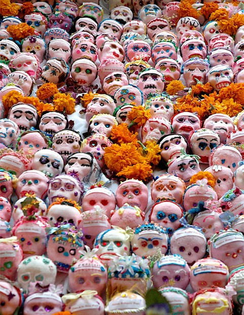 "Day of the Dead ofrenda (""offerings) in Albuquerque commemorate women killed in Juarez, Mexico area."