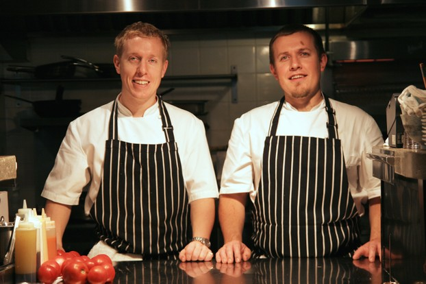 Chef Ross Fraser (left) and his brother Simon Fraser (right)