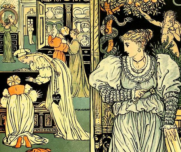 Walter Crane - Bluebeard and its symbols