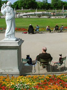 People Watching in Luxembourg Gardens