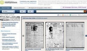 Chronicling America Homepage