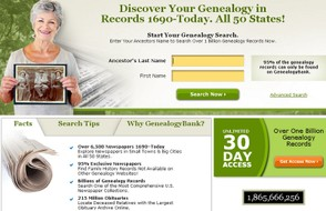 Genealogybank Home Page