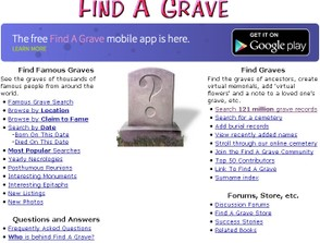 Find A Grave Main Page