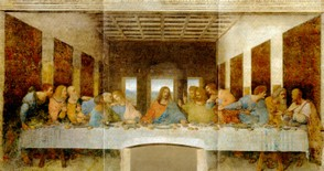 The Last Supper, fresco by Leonardo da Vinci (copy)