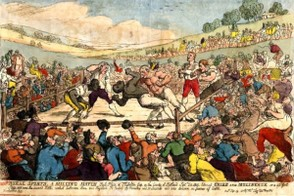 Championship fight between Tom Cribb and Tom Molyneux 1811