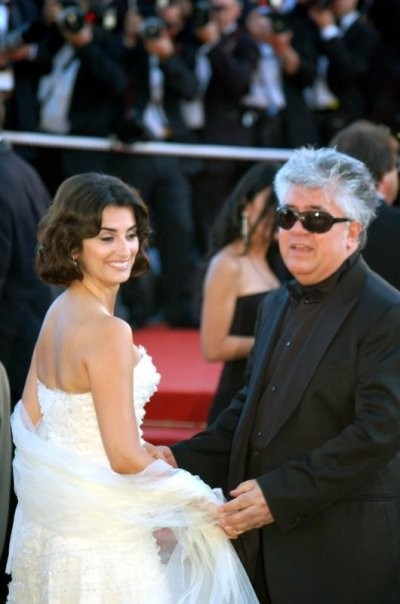 Penélope Cruz and Pedro Almodóvar at 2006 festival de Cannes, southern France