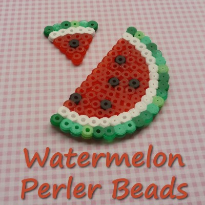 Watermelon Perler Beads Fruit Pattern
