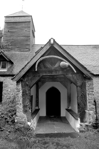Image: Doorway to St Tydecho's Church, Mallwyd