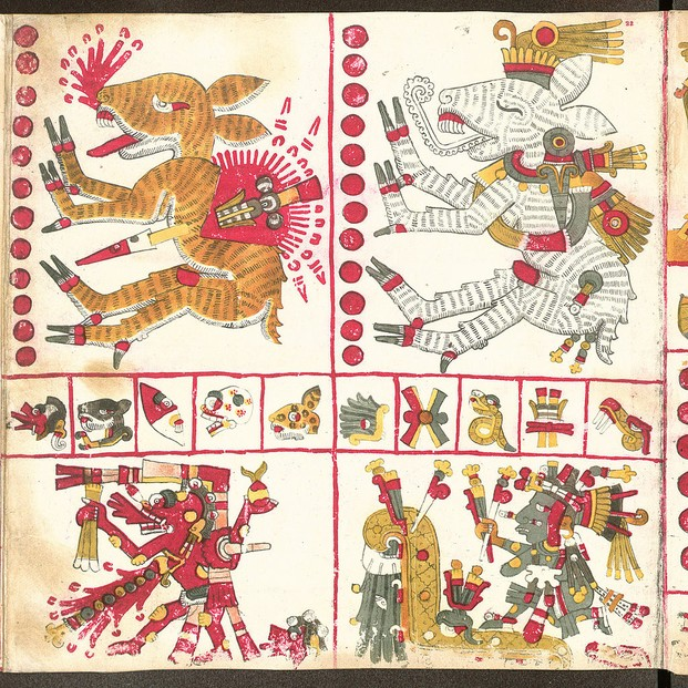 Codex Yoalli Ehēcatl, known post-Conquest as Codex Borgia, page 22