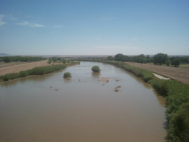 Rio Grande in west El Paso near New Mexico state line