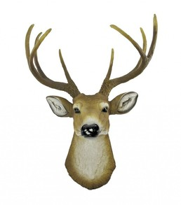 Realistic Faux Stag Head Wall Mount