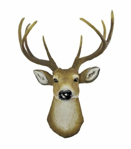 Faux Stag Deer Head Wall Mount