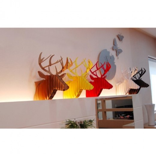 Cardboard Deer Head Wall Mounts