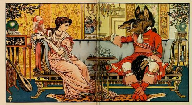 Walter Crane: Beauty and the Beast