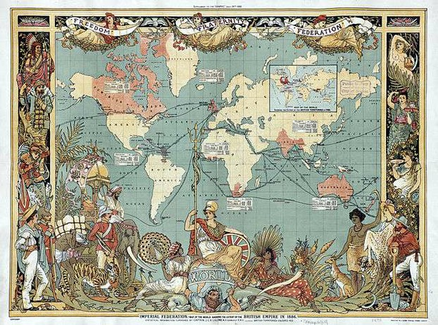 british empire map by walter crane