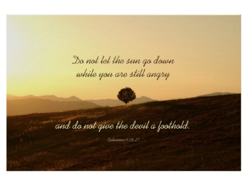 Sunset Scripture Poster