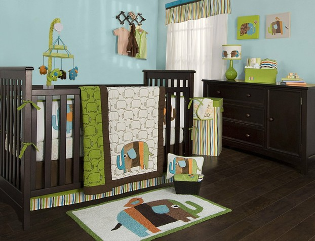 Zutano Baby Elephant Crib Bedding