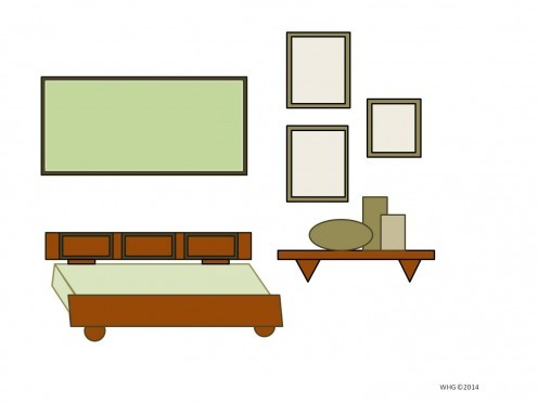 Furniture and Wall Art Arrangement/Placement