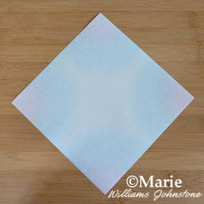 Starting point for the sheet of square paper